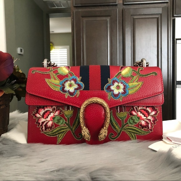 bc2385e0d Gucci Bags | New Dionysus Small Leather Red Shoulder Bag | Poshmark